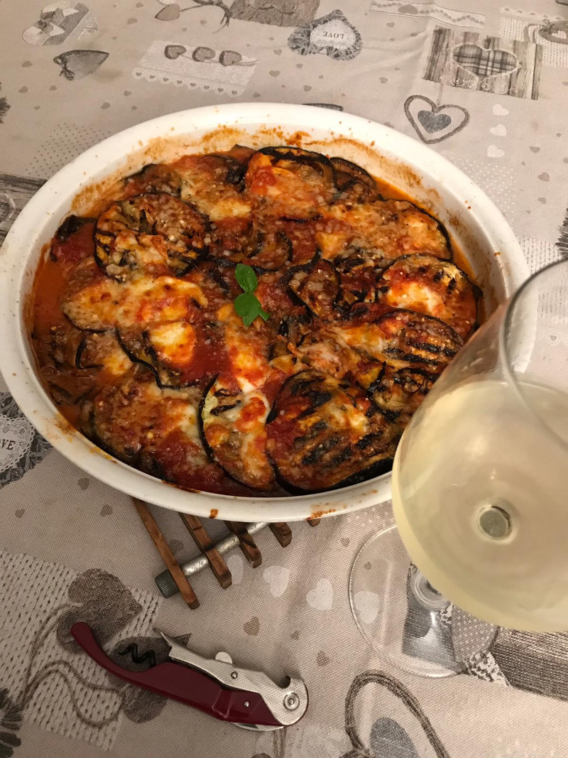 Abbinamento Vino e Parmigiana di Melanzane