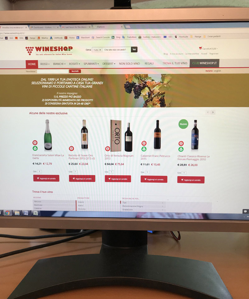 Come funziona un e-commerce di vini