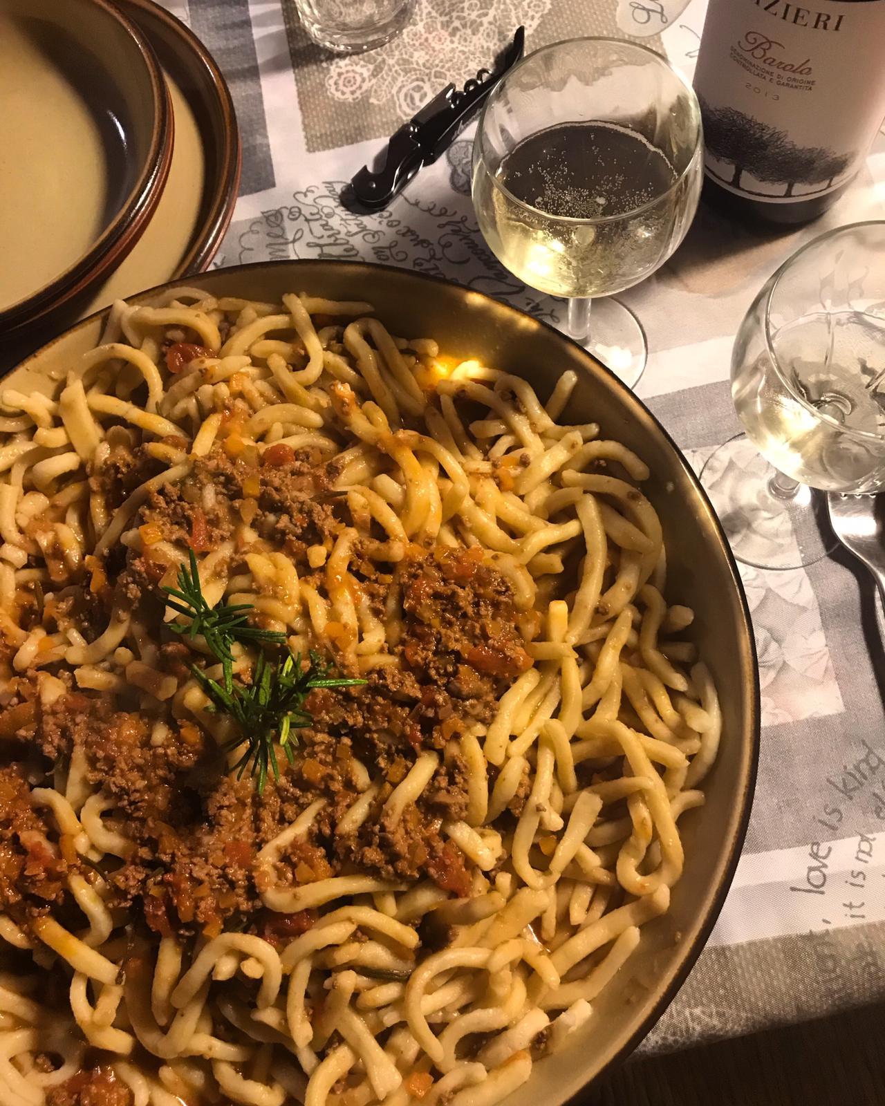 Abbinamento Vino e Pici