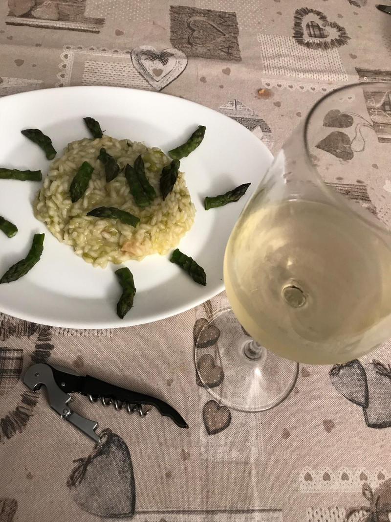 Abbinamento Vino e Risotto agli Asparagi