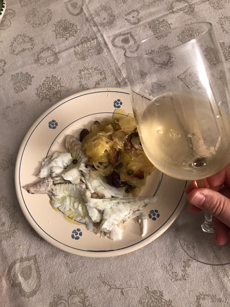 Abbinamento Vino e Rombo al Forno