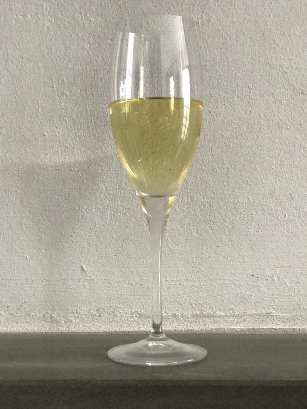La quantità ideale di spumante in un bicchiere