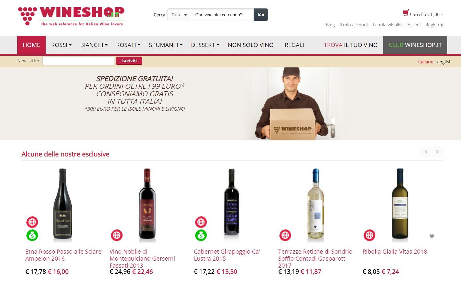 Come comprare vino online