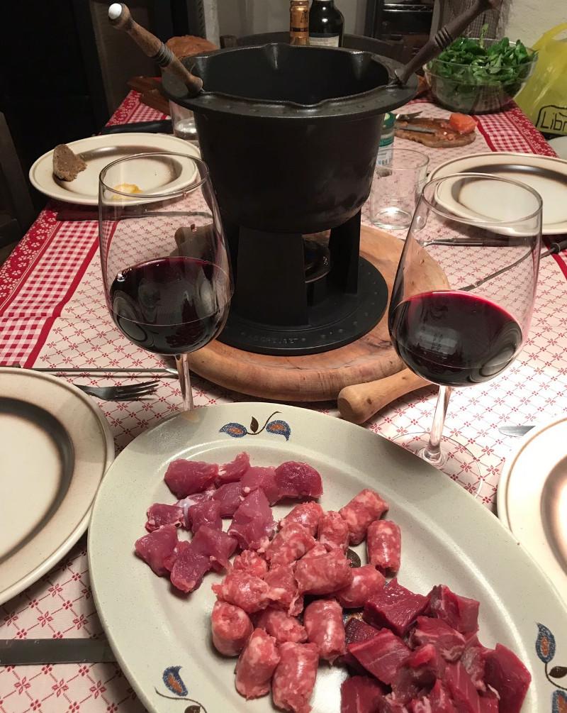 Abbinamento vino e Fondue Bourguignonne