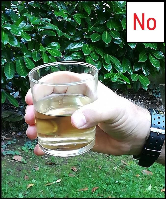 Come NON tenere un bicchiere senza stelo