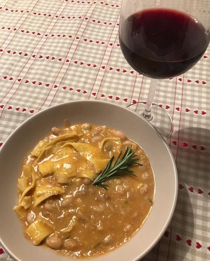 Abbinamento vino e pasta e fagioli