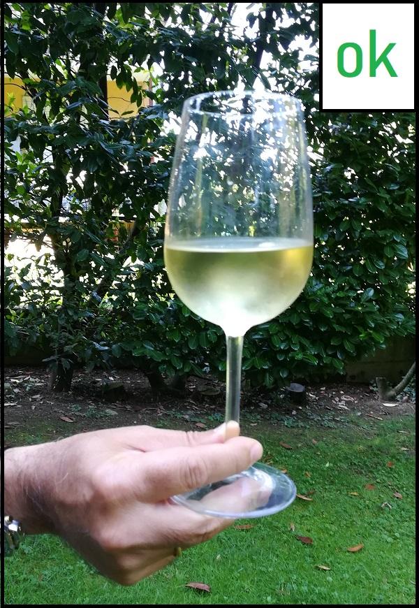 Come tenere un bicchiere con lo stelo